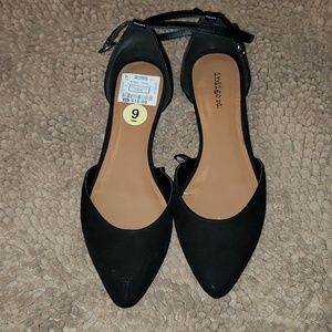 Ankle Suede Flats